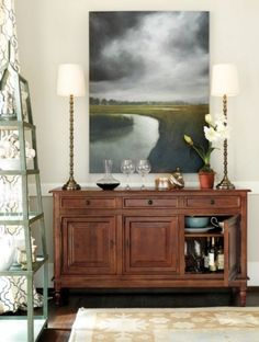 Our Storm Over the Marsh print is the perfect accent in a classic dining room, plus we love how it makes a bold statement!