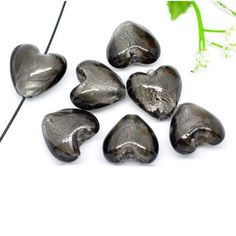 Lampwork Beads, Valentine Day Gifts, Glass Beads, Artisan, Silver, Stuff To Buy, Crafts, China, Gray