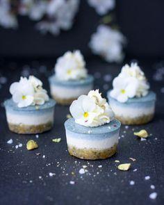 Ice Blue Lemon Cheesecake Bites   Vegan Recipes - Healthy Eating Jo - The Healthy Plant Based Foodie