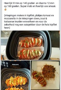 AIRFRYER: Gevulde kipfilet Food N, Good Food, Food And Drink, Weigth Watchers, Air Fried Food, Dutch Recipes, Air Frying, Happy Foods, Air Fryer Recipes