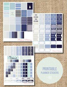 Winter Themed Planner Stickers Printable Planner par PinkedPrints