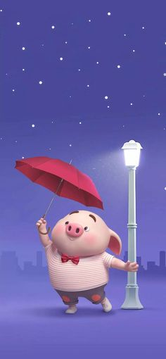 Pig Wallpaper, Funny Phone Wallpaper, Disney Wallpaper, Wallpaper Backgrounds, This Little Piggy, Little Pigs, Happy Pig, Cute Piglets, 3d Art