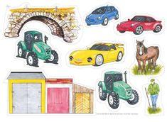 """Sagan påminner lite om den klassiska sagan om """"De tre Bockarna Bruse"""", men handlar istället om tre bilar och en traktor. Mycketuppskattad saga som barnen gärna vill höraom och om igen. Tips! Övaprepositionerna över, under, före, efter,etc. med bilarna och traktorn. Matematik: liten, stor och mittemellan. Ett, två tre… Låt fantasin flöda! © Text Per-Olof Wikström, bilderna är illustrerade av ... Read More"""