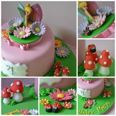 Made this cake for a very special little girl. The candle travelled all the way home from a family holiday in Orlando. Tinkerbell Birthday Cakes, Birthday Cake Girls, Tinkerbell Party, Mini Tortillas, Dora Cake, Fairy Cupcakes, Belle Cake, Fondant, Novelty Cakes