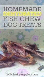 Homemade Dog Food dehydrated fish dog treat recipe - With jerky treats being in the news, it's hard to know what brand to trust. Luckily, you can make these dehydrated fish chews for your dog at home. Homemade Dog Cookies, Homemade Dog Food, Pet Treats, Healthy Dog Treats, Dog Treat Recipes, Dog Food Recipes, Basic Dog Training, Training Dogs, Free Training