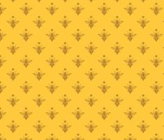 Fancy Bee with Flower fabric by kaitb on Spoonflower - custom fabric (in linen/cotton canvas)