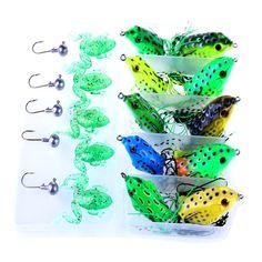 Best   fishing lure 21 classic Boxed Kit Halleluyah bait Fake bait Size Lei Wa Fish bait  Lead head hook group