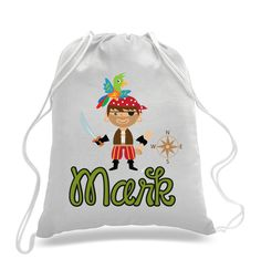 Personalized Butterfly design- Kids drawstring bags, gym bags ...