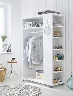 54 Custom Small Closet Design Ideas That You Can Try In Your Home - Coziem Simple Bathroom Decor, Furniture, Home, Small Closets, Cheap Home Decor, Interior, Closet Decor, Diy Furniture, Closet Bedroom