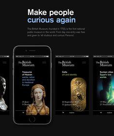 British Museum - iOS App Concept on App Design Served Mobile Ui Design, App Ui Design, Interface Design, Iphone Design, User Interface, Interactive Museum, Interactive Design, Wireframe, Id Digital