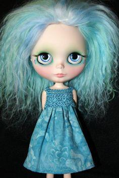Blythe Rag Bag Designs Turquoise Batik by BlytheRagBagDesigns