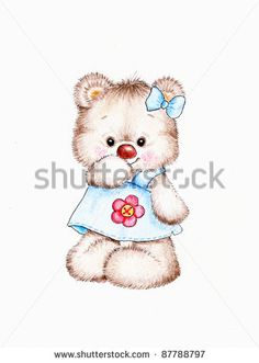 Stock Images similar to ID 114655597 - teddy bear with flower