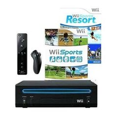 Nintendo Console Black With Wii Sports + Sports Resort