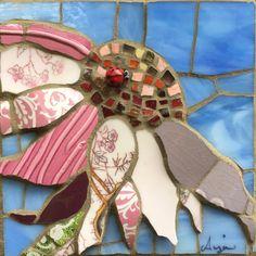 Anja Hertle Mosaic Tile Art, Mosaic Artwork, Mosaic Diy, Mosaic Crafts, Mosaic Glass, Stained Glass, Pebble Mosaic, Mosaic Designs, Mosaic Patterns