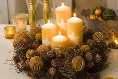 Christmas Is Coming, Christmas Tree, Advent Wreath, Christmas Decorations, Table Decorations, Jingle Bells, Door Wreaths, Pillar Candles, Fall