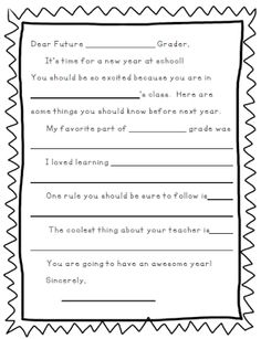 Dear Future (Blank) Grader Letter Compassionate Teacher: Tricks of the Trade: (Freebies Included)