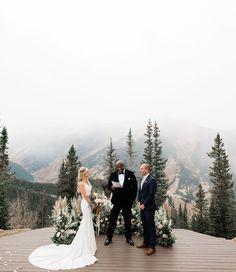A Dreamy + Misty Mountaintop Wedding in Aspen Fall Mountain Wedding, Fall Wedding, Dream Wedding, Wedding In The Mountains, Wedding Shoes, Wedding Venue Inspiration, Wedding Ideas, Aspen Colorado, Colorado Wedding Venues