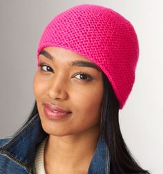 If you can knit and knit two together, you can knit this hat. My First Knit Hat is perfect for the beginning knitter just learning how to knit a hat. There's no joining, circular knitting, purling, or even binding off.