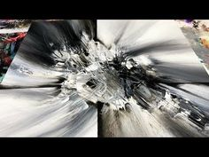 Abstract Painting / DEMO 63 / Subscriber Request 2 / Abstract Art / Black and White - YouTube