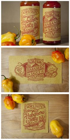 Hot Sauce Typography Packaging