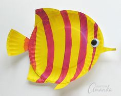 Paper Plate Tropical Fish Yellow
