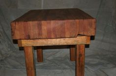 Butcher Block Table Using Recovered & by EnvironmentalCrafts, $650.00