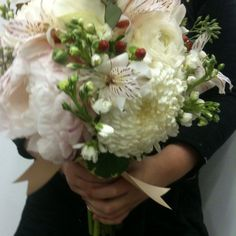 Love the football mums in this bouquet