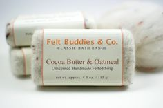 Cocoa Butter & Oatmeal Unscented Felted Soap - by Felt Buddies & Co.