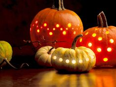 Pumpkin lights. Too cute. :)