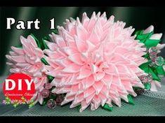 Master-class Kanzashi. DIY. Needlework. Scrunchy Kanzashi. Flowers Kanzashi - YouTube