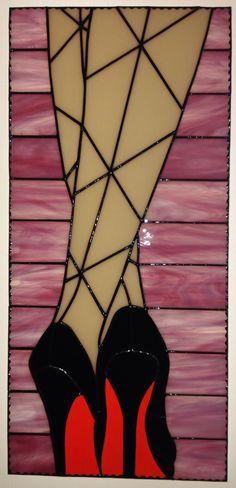 Faux Stained Glass, Stained Glass Lamps, Stained Glass Designs, Stained Glass Panels, Stained Glass Projects, Stained Glass Patterns, Mosaic Glass, Glass Shoes, Tiffany Glass