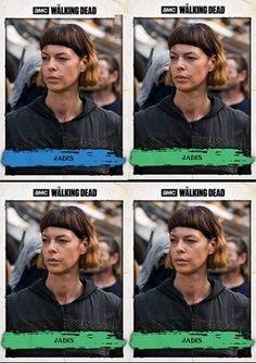 Topps The Walking Dead Card Traders Worse Best Friend 1X Blue 3X Green #Topps