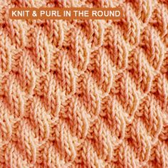 Right Diagonal Rib stitch pattern - Worked in the round. Right Diagonal Rib stitch pattern – Worked in the round. Here's one of my favorite knit and pur Loom Knitting Stitches, Dishcloth Knitting Patterns, Knit Dishcloth, Knitting Socks, Baby Knitting, Round Loom Knitting, Seed Stitch, Knit In The Round, How To Purl Knit