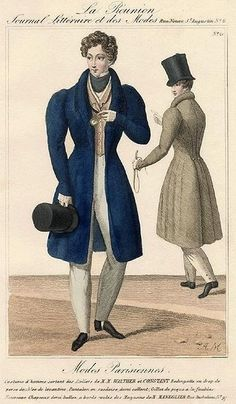 """""""[Coats] are generally considered the sine qua non of dress, a good coat…diffusing the halo of its splendour over the rest of the person,. Fashion History, World Of Fashion, Mens Fashion, Vintage Men, Vintage Fashion, Vintage Outfits, Historical Costume, Historical Clothing, Camisa Retro"""