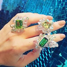 which one is your favorite? My Athena's Laurel collection #green #collections #art #annahu #diamond #jewelry #annahuhautejoaillerie