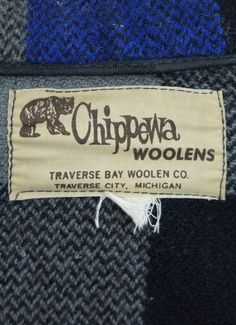 vintage chippewa wool | vintage clothing label from a Chippewa wool jacket