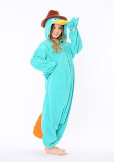 Onesie Pajamas 7070 857 29 adc 993 58 db bbd 1024 1024 Agent P adult  onesies Kigurumi Special Use Costumes   Gender Unisex   Material Cotton    Components cc77ea72f