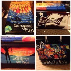 Fraternity cooler. Lambda chi Alpha. Crafts. Fraternity