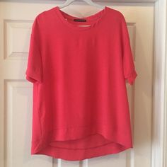 Cora Tunic-Never been worn! Love this color! Never been worn, short sleeve tunic. Not super long but longer in the back than front. Great for Spring! Tops Blouses