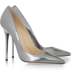 aae3ddd2ae6c Jimmy Choo Anouk metallic leather pumps Metallic Pumps