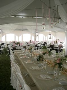 Beautiful and unique way to set for your wedding reception! #wedding #tent