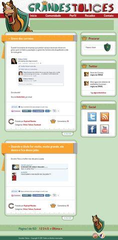 Layout do Blog Grandes Tolices, antigo Grandes Tolices do Orkut.
