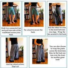 Easy Breezy Wrap Pants Tutorial « I think this will be the first piece of clothing I attempt