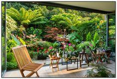 Outdoors Discover 40 Magical Plant Garden Ideas for Every Outdoor Space Small Tropical Gardens, Tropical Garden Design, Small Courtyard Gardens, Small Backyard Gardens, Small Garden Design, Small Gardens, Outdoor Gardens, Small Jungle Garden Ideas, Small Cottage Garden Ideas