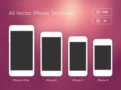 Minimal iPhone Templates365psd Freebies Pinterest Minimal