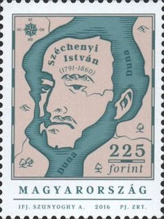 Anniversary of the Birth of Count István Széchenyi Statesman Hungary, Counting, Writer, Anniversary, Birth, Books, Fictional Characters, Stamps, Plates