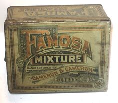 Rare Late 1800 s Famosa Tobacco Mixture Tin