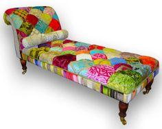 Patchwork chaise longue in Designers Guild door JustinaDesign, £650.00