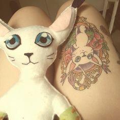 Gatomon tattoo & plush