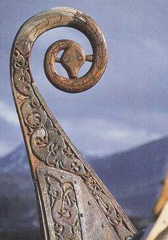 Proue décorée d'un drakkar . Viking Ship Museum, Oslo. By Informatique . Licence